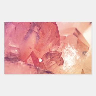 rose quartz rectangle sticker