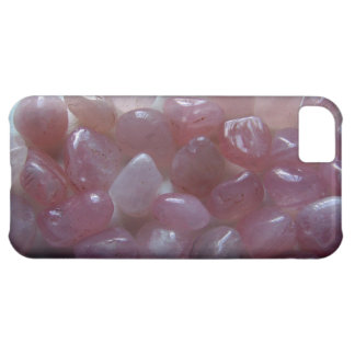 Rose Quartz Tumbled Stone iPhone 5 Case