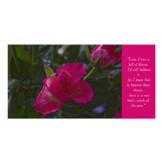 Rose Quote Card