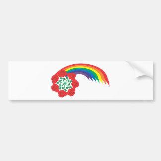 Rose-Rainbow arc Bumper Sticker