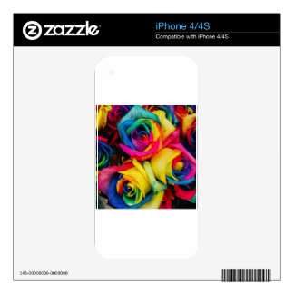 Rose Rainbow Decal For The iPhone 4S