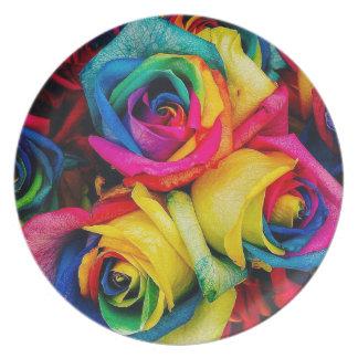 Rose Rainbow Plate