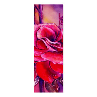 ROSE RED BOOKMARKS BUSINESS CARD TEMPLATES
