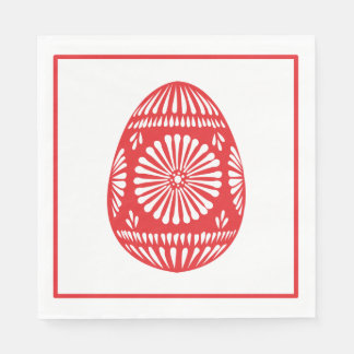 Rose Red Easter Egg Classic Chic Paper Napkin