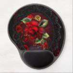 """Rose Red Gel Mouse Pad<br><div class=""""desc"""">A beautiful red rose mouse pad. Perfect for any woman looking to dress up her office!</div>"""
