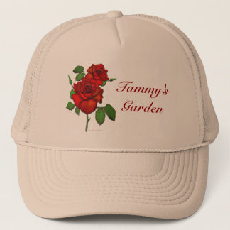 Rose Red Illustration Garden Hat