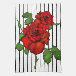 Rose Red Kitchen Towel 02