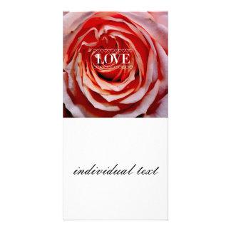Rose red, Love (I) Photo Card