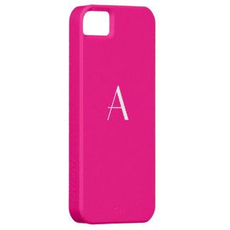 Rose Red Monogram iPhone 5 Case