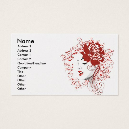 rose_red, Name, Address 1, Address 2, Contact 1... Business Card