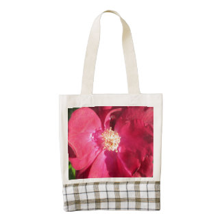 Rose Red Open Zazzle HEART Tote Bag