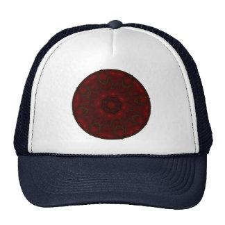 Rose Red Petals Kaleidoscope Mandala Trucker Hat