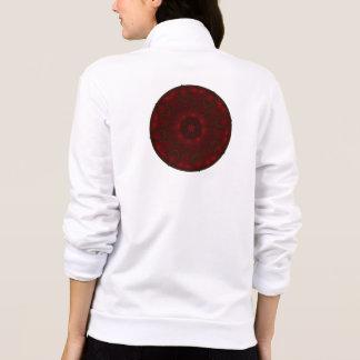 Rose Red Petals Kaleidoscope Mandala Printed Jacket