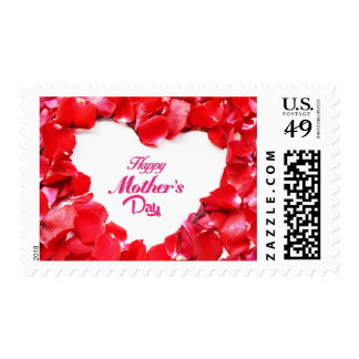 Rose Red Petals Mother's Day Stamp