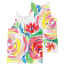 Rose Red Rose Yellow All-Over-Print Tank Top