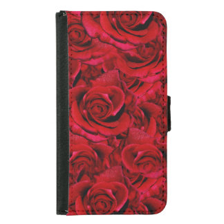Rose red samsung galaxy s5 wallet case