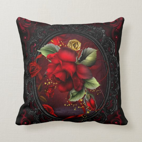 Rose Red Throw Pillow Zazzle.com