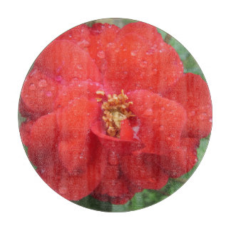 Rose Red Water Bloom Cutting Boards