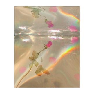 Rose reflection acrylic print
