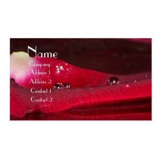 Rose Reflection Double-Sided Standard Business Cards (Pack Of 100)