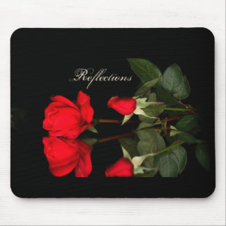 Rose, reflections mouse pad