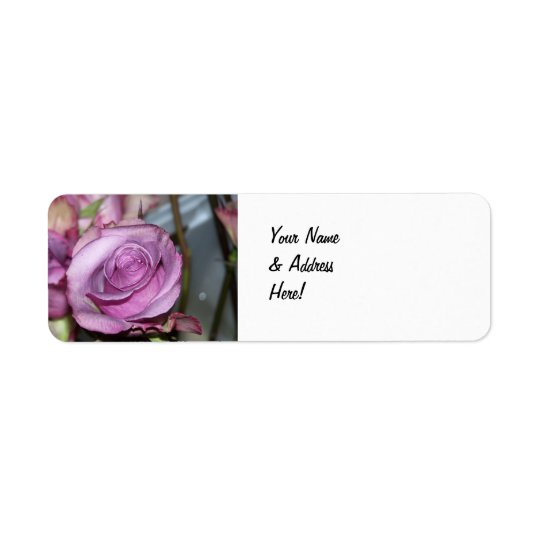 Rose Return Address Label