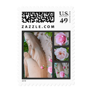 Rose Reverence Collage Postage