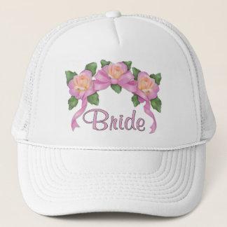 Rose Ribbon Wedding - Bride Trucker Hat