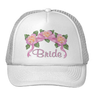 Rose Ribbon Wedding - Bride Trucker Hat