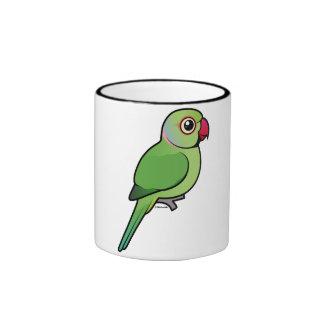 Rose-ringed Parakeet Ringer Coffee Mug