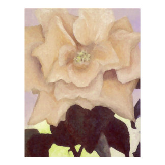 Rose Romance Light Yellow Painted Old-fashioned Letterhead