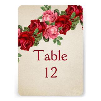 Rose Romantic Elegant Table card