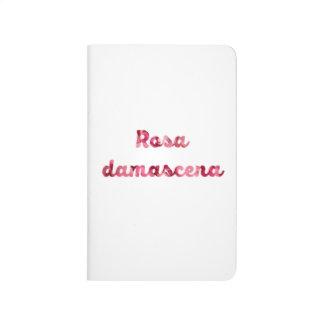 """Rose """"Rosa damascena"""" Pocket Journal Notebook"""