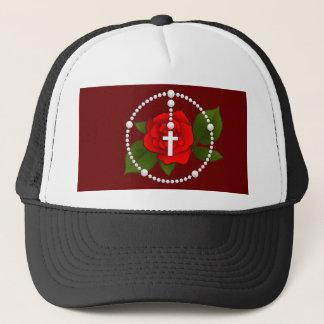 Rose Rosary Trucker Hat