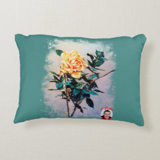 Rose/Rose Accent Pillow