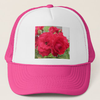 Rose Rouge Fleur Trucker Hat