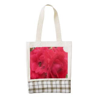 Rose Rouge Fleur Zazzle HEART Tote Bag