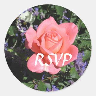 Rose RSVP stickers