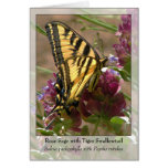 Rose Sage with Tiger Swallowtail - Native Notecard Card