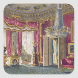 Rose Satin Drawing Room (second view) Carlton Hous Square Sticker