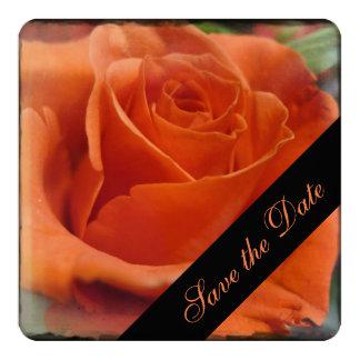"Rose Save the Date 5.25"" Square Invitation Card"