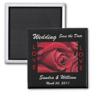 Rose Save the Date Magnet