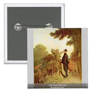 Rose Scent Memories By Spitzweg Carl Pinback Button