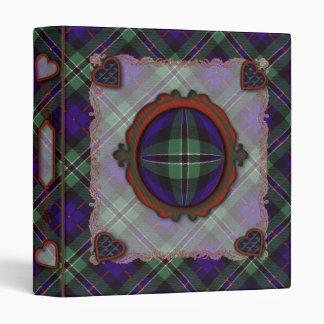 Rose Scottish clan tartan 3 Ring Binder