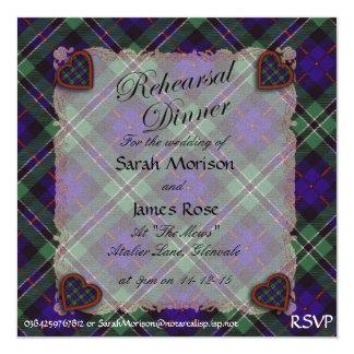 Rose Scottish clan tartan - Plaid Card