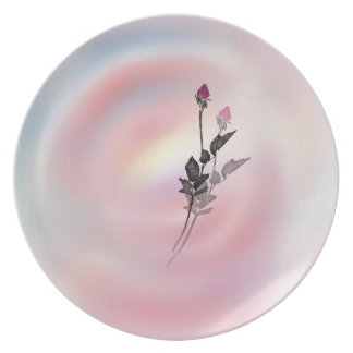 Rose shadow plate