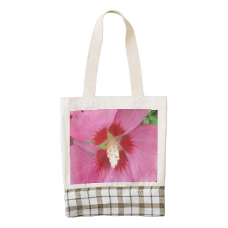 Rose Sharon Pink Red Zazzle HEART Tote Bag
