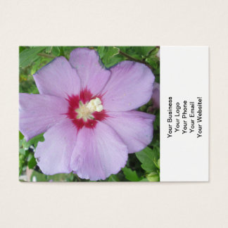 Rose Sharon Purple Red Business Card