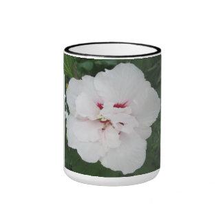 Rose Sharon White Red Ringer Coffee Mug