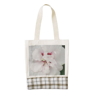 Rose Sharon White Red Zazzle HEART Tote Bag